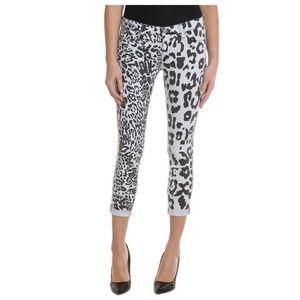 NWT HUDSON Harkin Leopard Crop Skinny Jeans